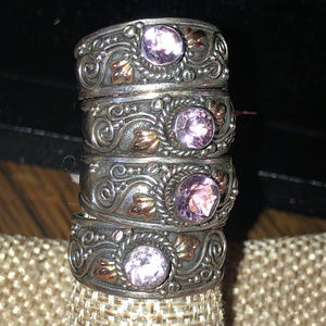 Sterling Silver 925 Amethyst Ring